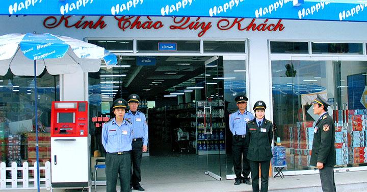 Bảo vệ cửa hàng, siêu thị